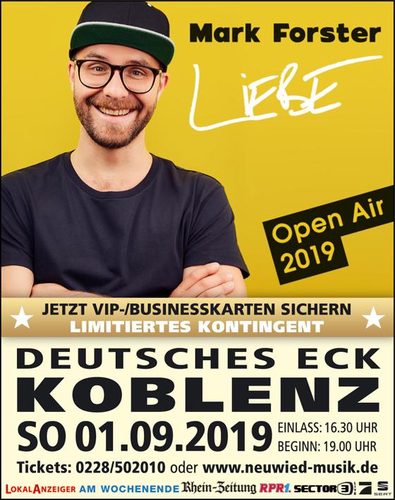 Mark Forster Liebe Kaiserfestival Koblenz Neuwied Musik